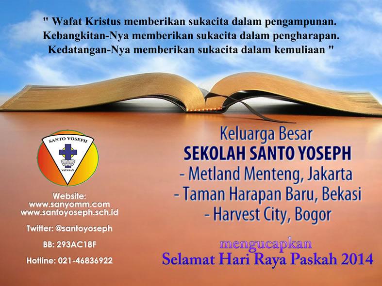 Ucapan Paskah 2014 - Sekolah St Yoseph